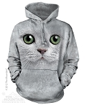 Green Eyed Cat - Adult Hoodie