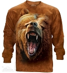 Grizzly Growl - Adult Long Sleeve T-shirt