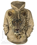 Leopard On The Prowl - Adult Hoodie