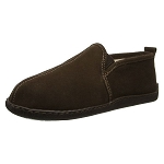 Minnetonka Moccasins 3928 - Men's Pile Lined Romeo Slipper - Chocolate Suede