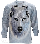 White Wolf DJ - Adult Long Sleeve T-shirt