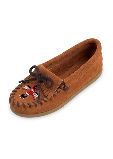 2602 Minnetonka Moccasin Childrens Brown Suede Thunderbird Moccasin