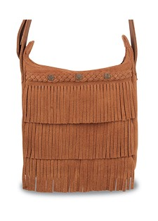 5002 Minnetonka Moccasins Brown Suede Cross Body Fringe Bag