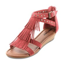 minnetonka moccasins 71600 coral suede monaco sandal