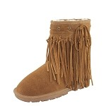 Lamo Footwear - Women's Sheepskin Sammi Boot - Brown Suede CW1221-CHESTNUT