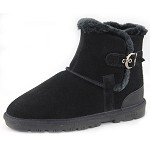 Lamo Footwear - Women's Sporty Ankle Boot - Black Suede EW1252-BLACK