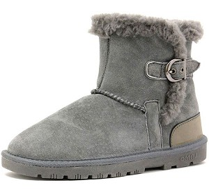 Lamo Footwear - Women's Sporty Ankle Boot - Grey Suede EW1252-GREY