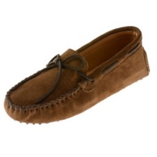 Minnetonka Moccasins 713 - Men's Suede Driving Moccasin - Dusty Brown