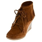 minnetonka moccasins 84022 limited edition brown ankle hi wedge boot