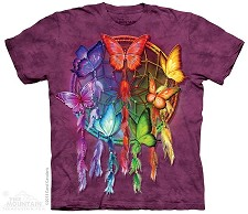 Rainbow Butterfly Dreamcatcher - Adult Tshirt