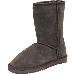 Lamo Sheepskin - Women's Sheepskin Winter Boot - Flat Sole - Chestnut Suede W0909-CHESTNUT