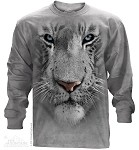 White Tiger Face - Adult Long Sleeve T-shirt