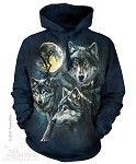 Moon Wolves Collage - Adult Hoodie