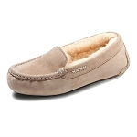 Old Friend Footwear - 441310 - Women's Sheepskin Bella Moccasin - Taupe