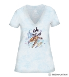 Ride The Waves - Blue - 41-6337- Women's Triblend V-Neck Tee