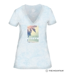 Relax - Blue - 41-6338- Women's Triblend V-Neck Tee