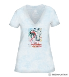 Chill - Blue - 41-6340 - Women's Triblend V-Neck Tee