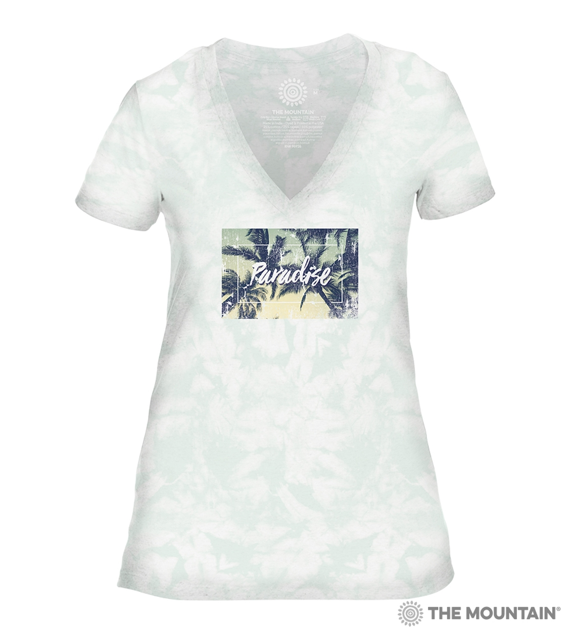Paradise - Green - 41-6343 - Women's Triblend V-Neck Tee