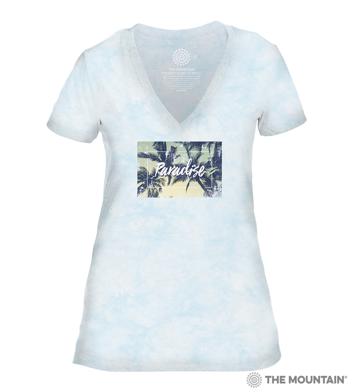 Paradise - Blue - 41-6343 - Women's Triblend V-Neck Tee