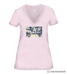 Paradise - Pink - 41-6343 - Women's Triblend V-Neck Tee