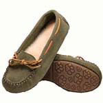 Old Friend - Women's Jemma Moccasin - 441320 - 100% Sheepskin Insole - Green