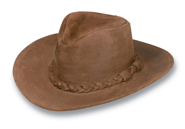 Minnetonka 9503 - Outback Hat - Brown Rough Leather