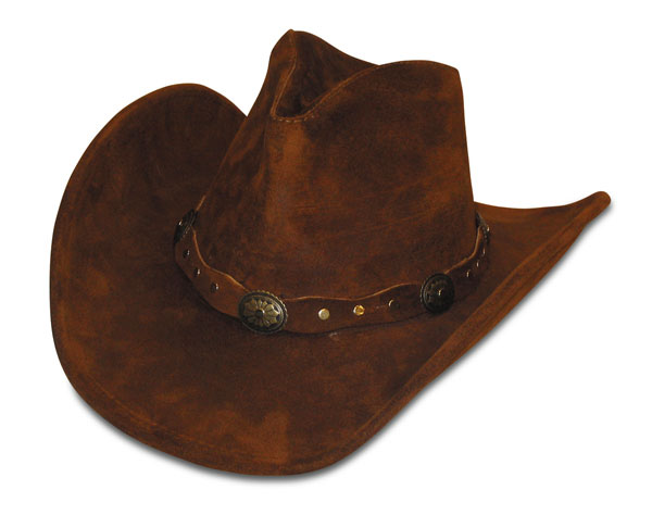 Minnetonka 9613 - Silverton Dude Hat - Brown Rough Leather