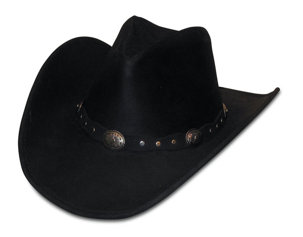 Minnetonka 9619 - Silverton Dude Hat - Black Rough Leather