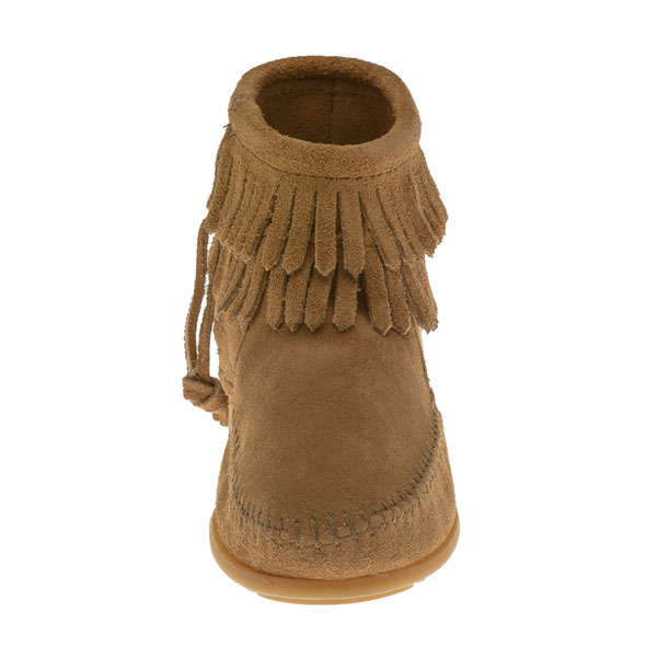 Minnetonka Moccasins 2297T - Childrens Double Fringe Ankle Boot ...