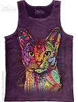 Abyssinian Cat - Adult Tank Top