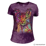 Abyssinian Cat - 26-3851 - Women's Triblend Crew-Neck Tee