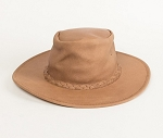 Minnetonka 9525 - Western Fold Up Hat - Smokey Tan Leather