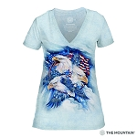 Allegiance Eagles - 41-4841 - Women's Triblend V-Neck Tee