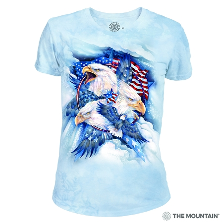 Allegiance Eagle - 26-4841 - Women's Triblend Crew-Neck Tee