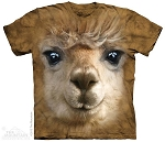 Big Face Alpaca - 10-3662 - Adult Tshirt
