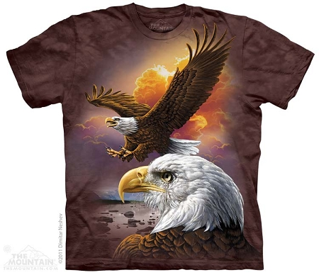Eagle And Clouds - 10-3370 - Adult Tshirt