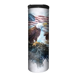 American Eagle Flag - 59-6197 - Stainless Steel Barista Travel Mug