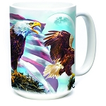 American Eagle Flag - 57-6197-0901 - Coffee Mug