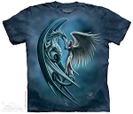 Angel and Dragon - Adult Tshirt