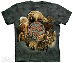 Animal Spirit Circle - 10-8324 - Adult Tshirt - Native American