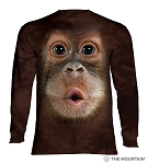 Baby Orangutan - 45-3587 - Adult Long Sleeve T-shirt
