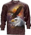 Eagle And Clouds - Adult Long Sleeve T-shirt