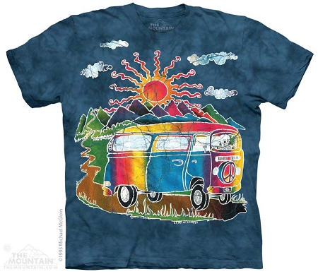 Batik VW Tour Bus - 10-8361 - Adult Tshirt