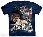 Big Cat Collage - 15-1065 - Youth Tshirt