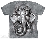 Big Face Ganesh - 10-3681 - Adult Tshirt
