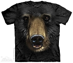 Black Bear Face - 10-3245 - Adult Tshirt