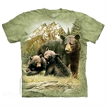 Black Bear Family - 10-5980 - Adult Tshirt