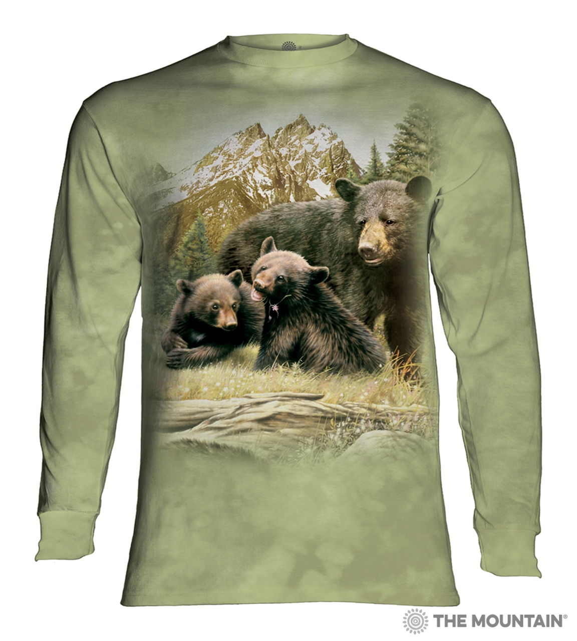 Black Bear Family - 45-5980 - Adult Long Sleeve T-shirt