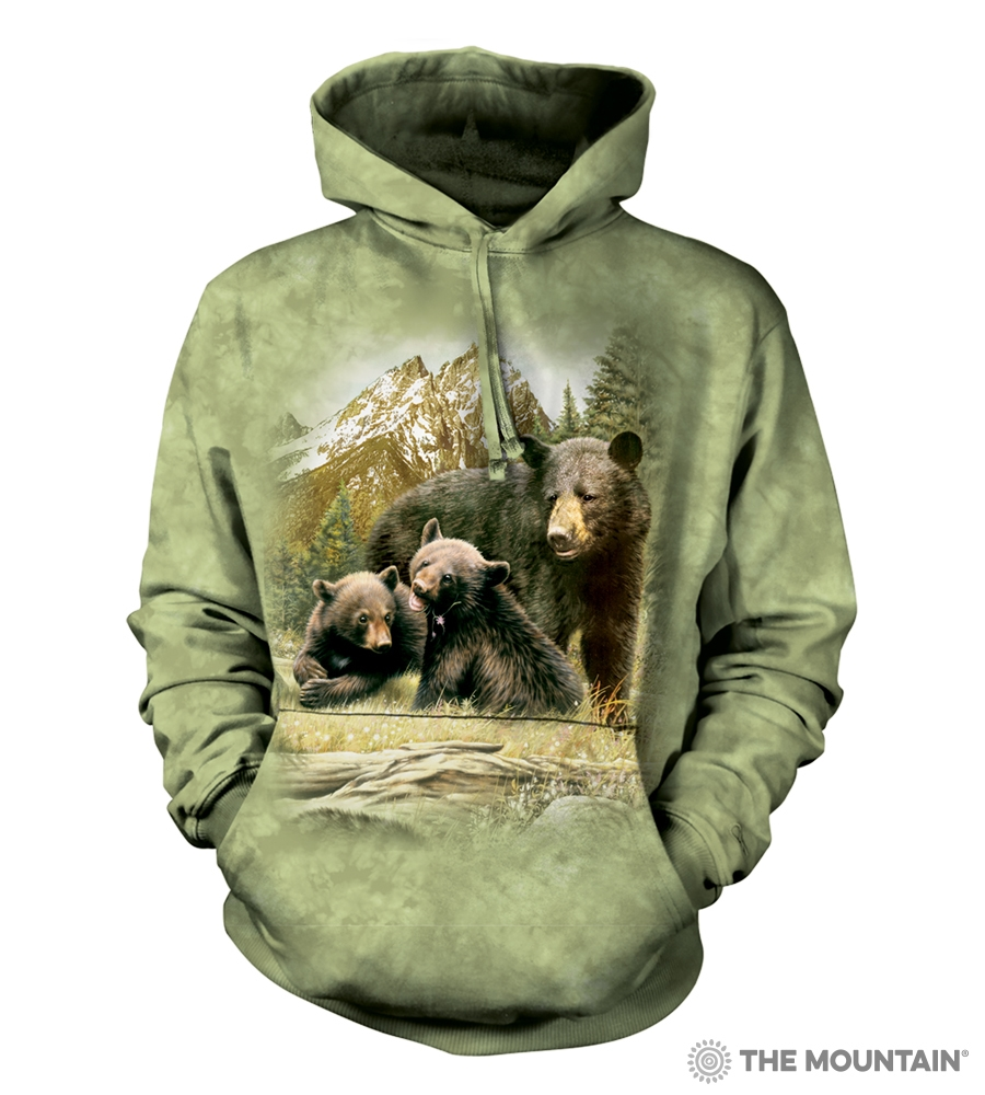 Black Bear Family - 72-5980 - Adult Hoodie