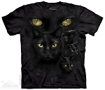 Black Cat Moon Eyes -10-4024 - Adult Tshirt